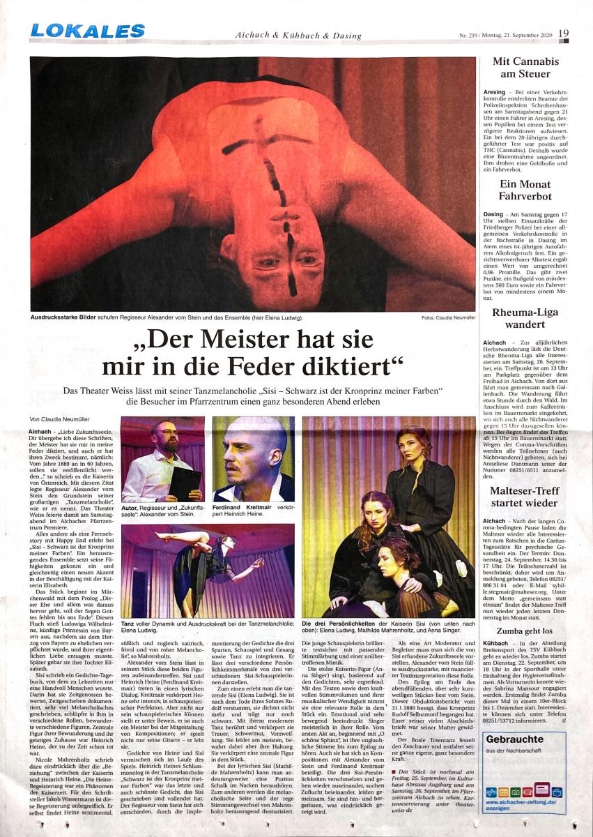 Theater-Weiss-Sisi-Presse-Urauffuehrung-Seite-1